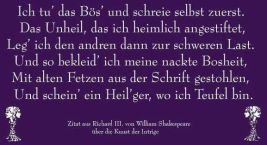 Zitat aus Richard III. von William Shakespeare