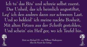 Zitat aus Richard III. von William Shakespeare